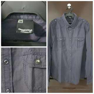 Diggin CHD Clockhouse Violet Striped Longsleeves Polo