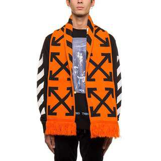 Off White Orange Scarf