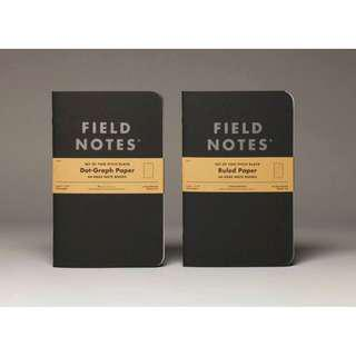 "Field Notes - Pitch Back Notebook (2-PACK), measures 4¾"" x 7½"", Either DOT-GRAPH or RULED"