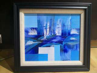 Acrylic Abstract Painting with Double frame included