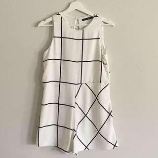 Zara Grid Playsuit Size XS