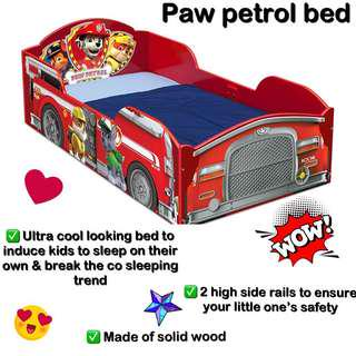 🚚 Paw patrol & Lightning MCQueen toddler bed (2 designs available)