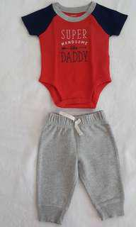 Carter's I Love My Daddy Set, New Born- 6months depends on the size of the baby
