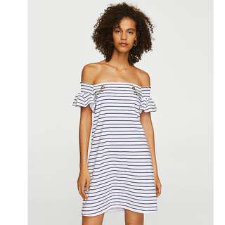 Mango Off Shoulder Dress