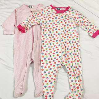 Take all 3 sleepsuits