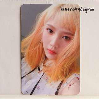 Red Velvet Russian Roulette Joy Photocard