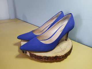 Spring blue textured heels - 7.5
