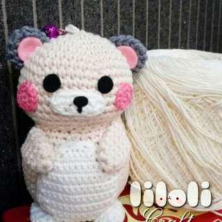 Hamster bagcharm lucu handmade gantungan tas fashion