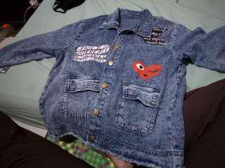 Oversize jaket jeans wanita import