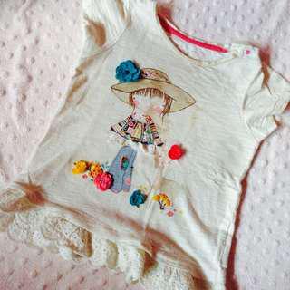 Baby peplum shirt by Mothercare