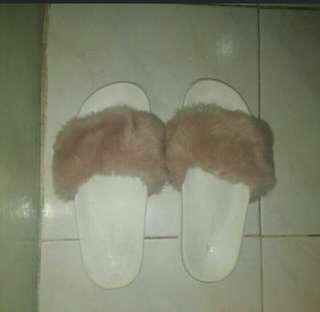 Fur slippers Penshoppe( TAKE IT ALL) and free concealer RUSHH