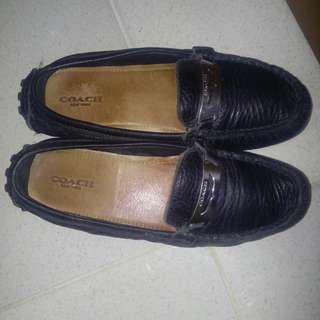 Original Coach Black Flat Shoes