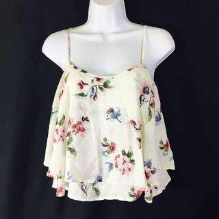 Hollister Floral Cami Cropped Top