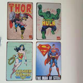 Marvel Thor Hulk Wonder Woman Superman