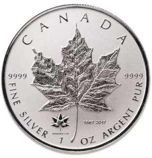 2017 Canada Silver Maple Leaf 1onz 99.99% Silver Coin