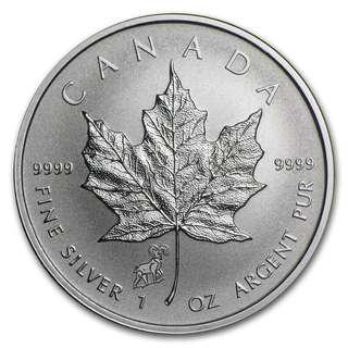 2016 Canada Silver Maple Leaf 1onz 99.99% Silver Coin