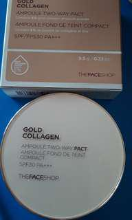 Gold collagen two way pact