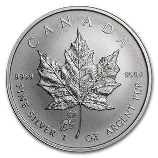 2015 Canada Silver Maple Leaf 1onz 99.99% Silver Coin