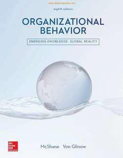 Steven L. McShane & Mary Ann Von Glinow. Organizational Behaviour: Emerging knowledge, global reality. International edition, 8th edition. 2018. (ISBN: 987-1-259-92170-4)