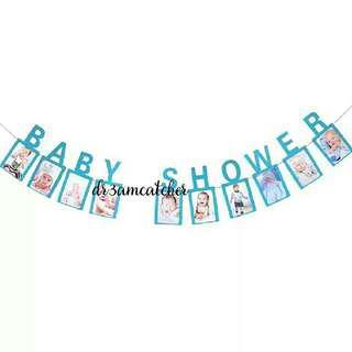 Baby Shower banner in blue