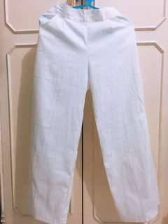 Celana panjang kulot putih
