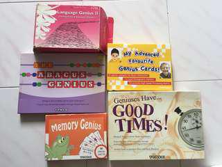 🚚 Shichida brain training - my advanced favourite genius / memory genius / the abacus genius / language genius II / geniuses have good times / instant memory board game flash cards / Tensai