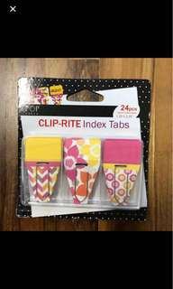 Clip-rite index tape