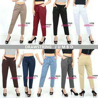Standart & jumbo drawstring pants basic