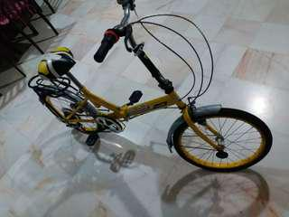 Used (InFar) 16inch foldable 6gear bicycle