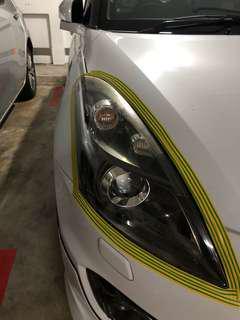 Swift Sport headlight restoration