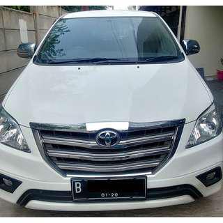 Toyota Innova 2015 2.5 G Diesel AT 2015 Putih (Bukan E / V) - KM 20Rb-an