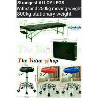Alloy leg, 4 in 1 Portable Foldable Light Massage Bed