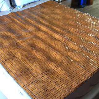 樂懿碳化麻將竹床蓆(雙人加大/透氣網布背底/防蚊紡織機能/防蟎抗菌)台灣製造 180x186cm 用不到三個月
