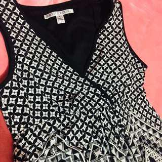 Black & White Long Dress