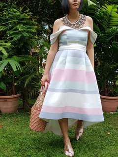 🚚 Asos UK12 high lo padlepop dress