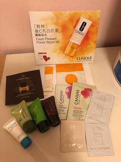 Clinique Innisfree Canvas等sample