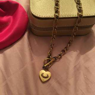 Juicy Couture Double sided charm necklace