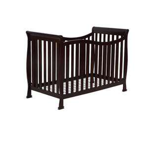 Shermag Lancaster convertible crib in espresso with mattress