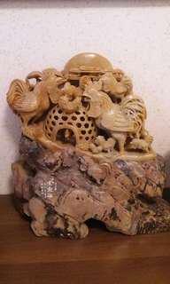名貴青田石雕