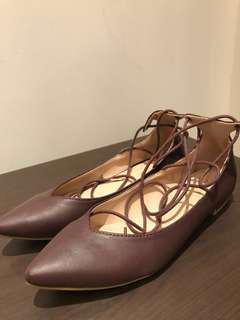 Zalora maroon lace up shoes