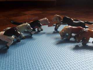 Horse - 8 pcs action figure - toys for boys and girls