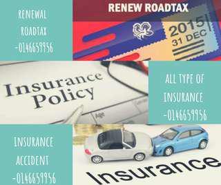 Renew road tax & insurance