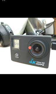 🚚 [全新]4K Ultra HD運動攝像機(附8g記憶卡+防水殼)