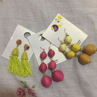All in earrings 3 for 200php