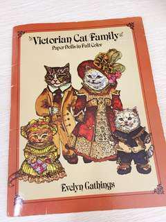 80年代美國製維多利亞貓形紙公仔