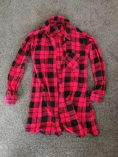 Factorie Plaid Dress/Button Up