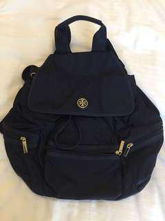 Authentic Tory Burch Navy Blue Backpack
