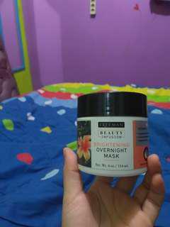 freeman beauty infusion brightening overnight mask