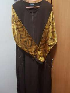 Preloved Jubah Dress in Dark Chocolate