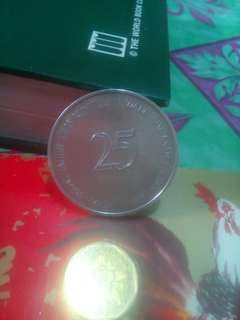 Coin $25, 25 tahun kwsp.